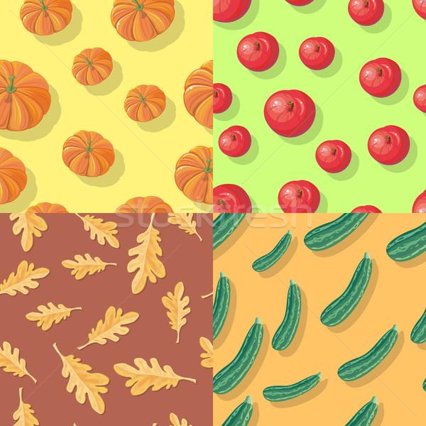 осень осень бесконечный текстуры набор Сток-фото © robuart