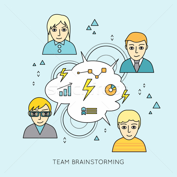Team Brainstorming Concept Stock photo © robuart