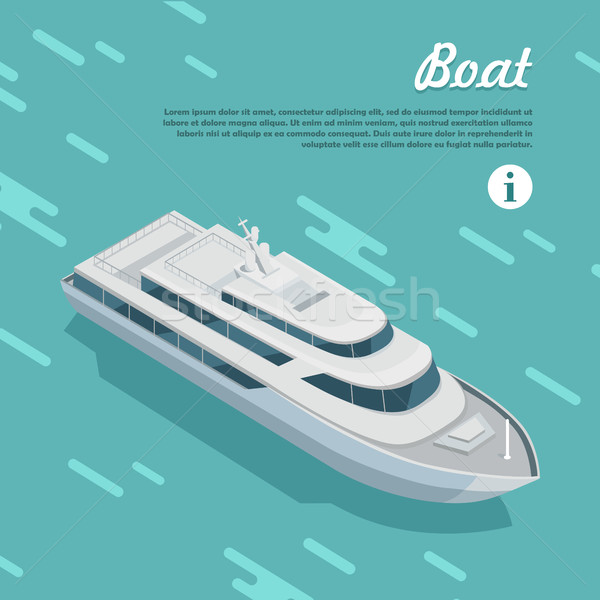 Boat Sailing in Sea. Cruise Liner Passenger Ship Stock photo © robuart