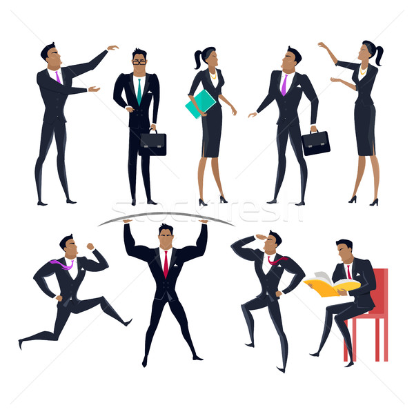 набор деловые люди дизайна коллекция бизнеса Сток-фото © robuart