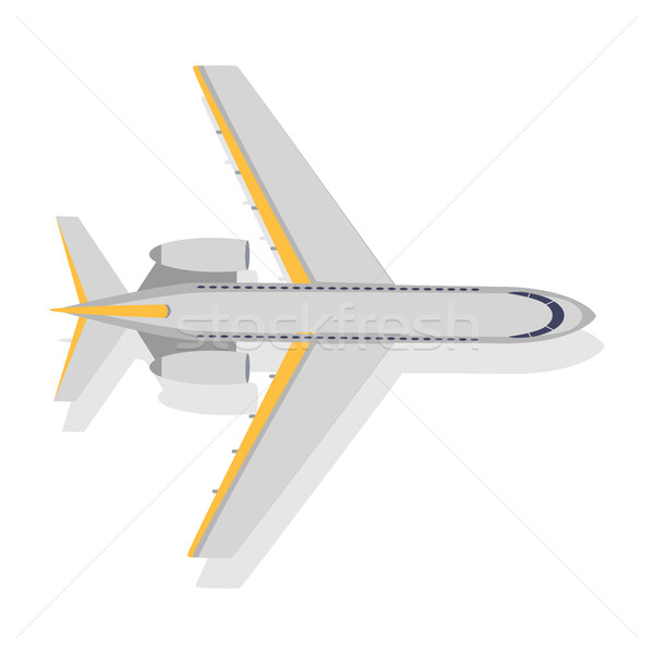 Plane Vector Icon on White Background. Transport Stock photo © robuart
