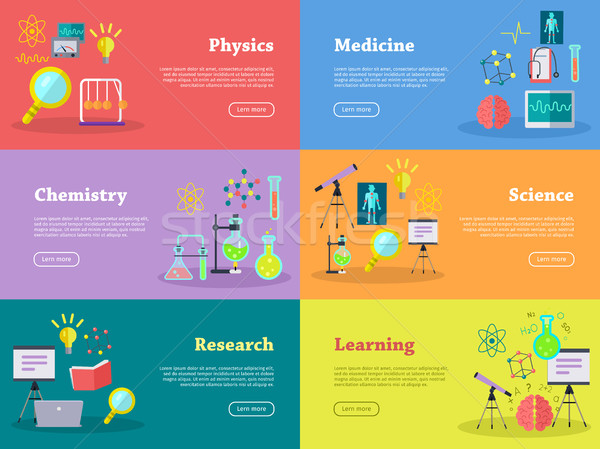 Physics Chemistry Medicine Science Learn Research Stock photo © robuart