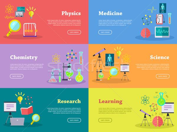 Fysica chemie geneeskunde wetenschap leren onderzoek Stockfoto © robuart