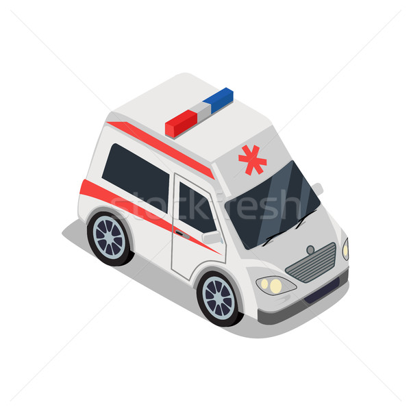 Ambulance illustration isométrique projection médicaux Ouvrir la Photo stock © robuart