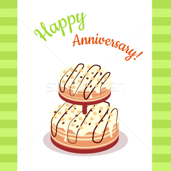 Happy Anniversary Pie Multi Level Stock photo © robuart