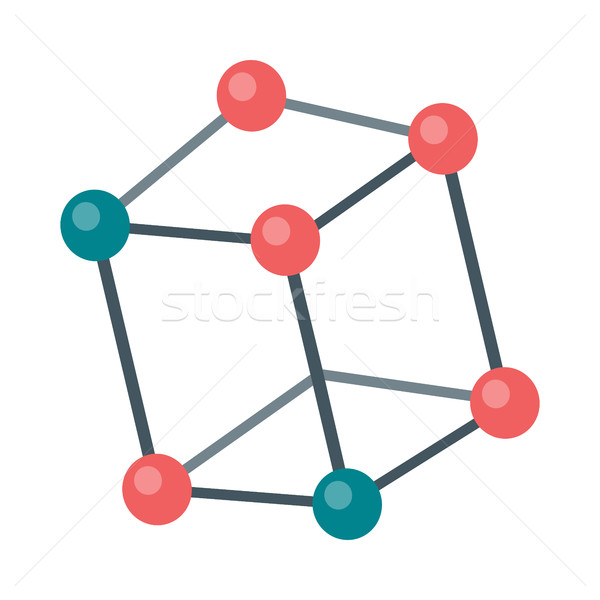 Molecular Structure Illustration in Flat Design   Stock photo © robuart