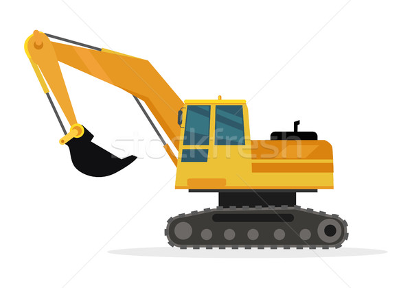 Caterpillar Building Crane Isolated on White. Stock photo © robuart
