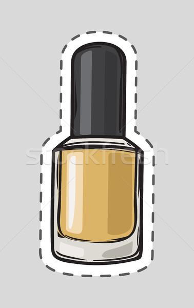 Nagellak lijn vrouwen nagel heldere Stockfoto © robuart