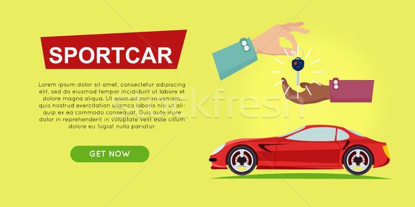 Vásárol online autó vásár háló szalag Stock fotó © robuart