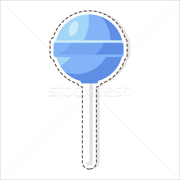 Lollipops Candy Patch Isolated on White Background Stock photo © robuart