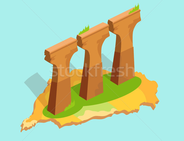Three Stone or Concrete Supports in Taiwan Flat Stock photo © robuart