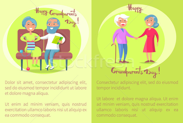 Happy Grandparents Day Senior Couple Walk Together Stock photo © robuart
