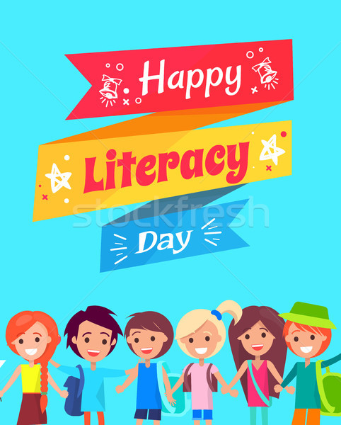 Happy Literacy Day Congratulation Postcard Stock photo © robuart