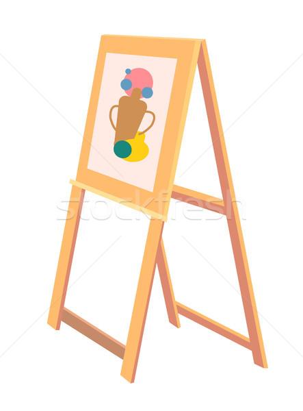 Cavalete esboço vaso pintado ícone Foto stock © robuart