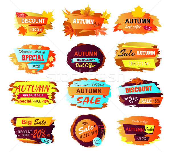 Best Discount Autumn Sale Vector Illustration Stock photo © robuart