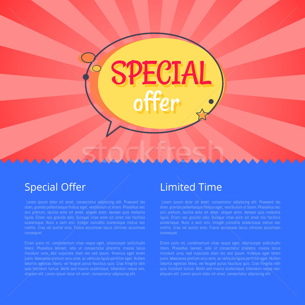 Limited Time Special Offer Sale Advert Poster Stock photo © robuart