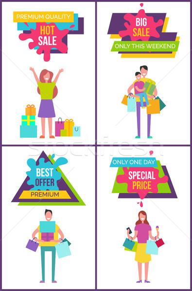 Premie kwaliteit best verkoop weekend promo Stockfoto © robuart