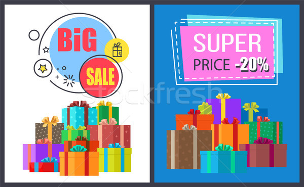 Big Sale Off Super Discount on Round Square Advert Stock photo © robuart
