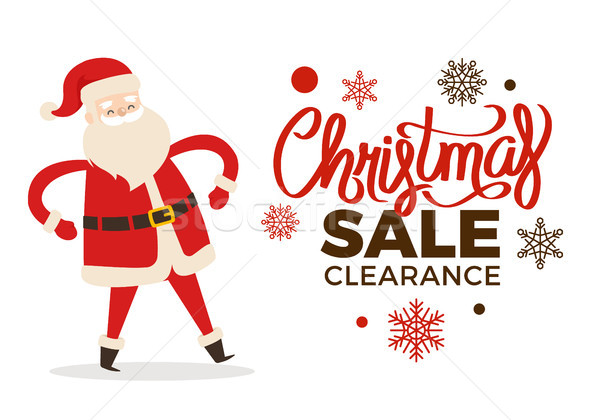 Christmas Clearance Sale Poster with Merry Santa Stock photo © robuart