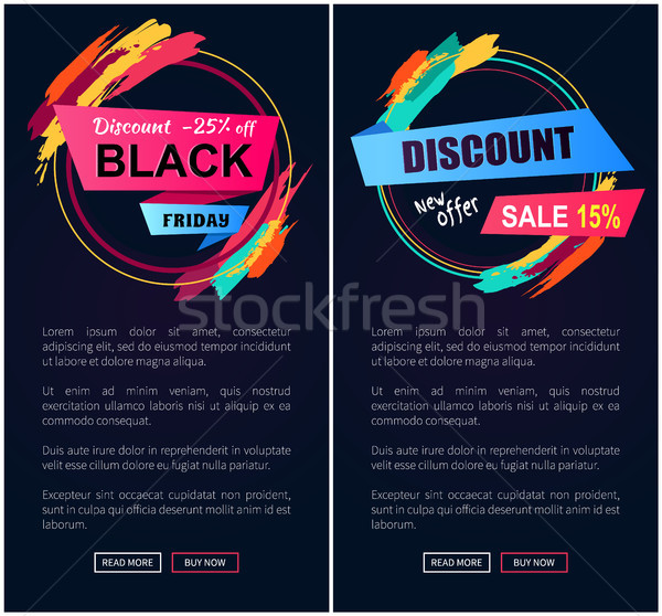 Black Friday Discount -25 Off Vector Illustration Stock photo © robuart