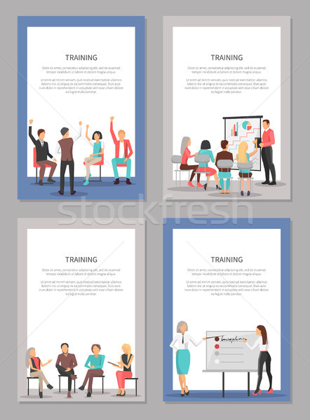 Training Set of Posters with People at Conference Stock photo © robuart