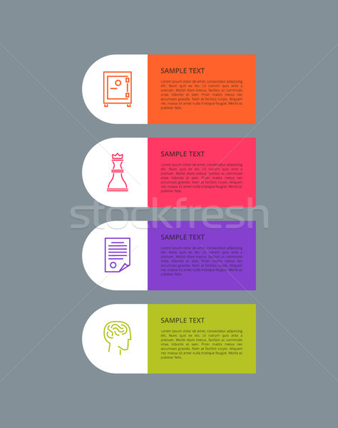 Infographic Elements Set Grey Vector Illustration Stock photo © robuart