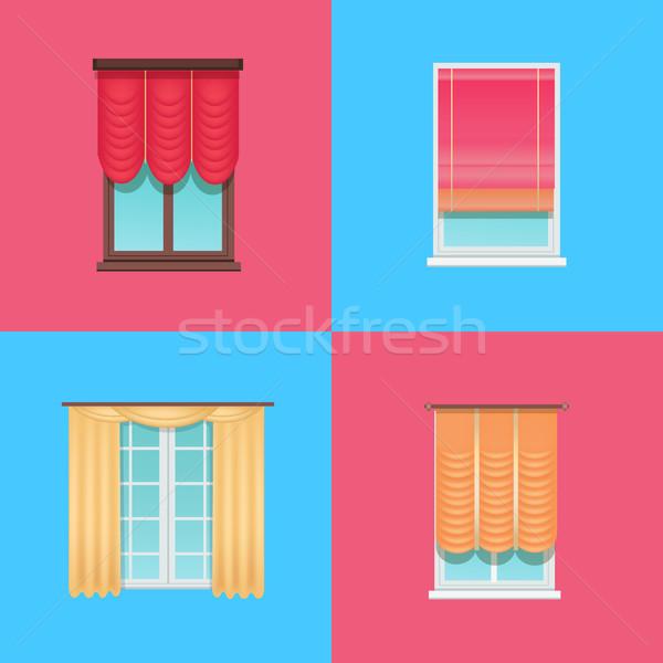 Set of Varied Interior Items Vector Illustration Stock photo © robuart