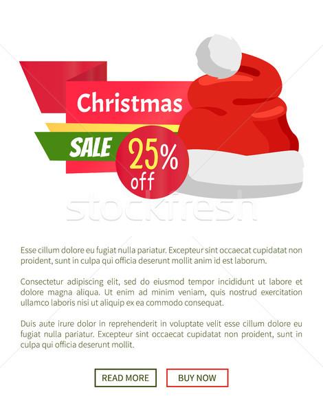 Natal venda promo etiqueta papai noel seis Foto stock © robuart