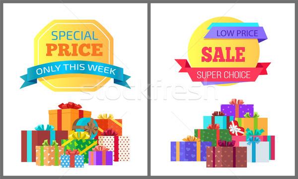 Hét különleges ár exkluzív plakátok ajándékok Stock fotó © robuart