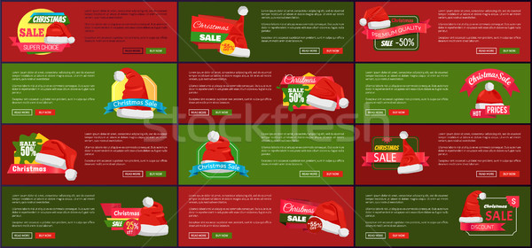 Set of Advertisement Labels Info About Price Off Stock photo © robuart