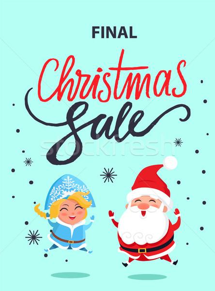 Final Navidad venta anunciante saltar Foto stock © robuart
