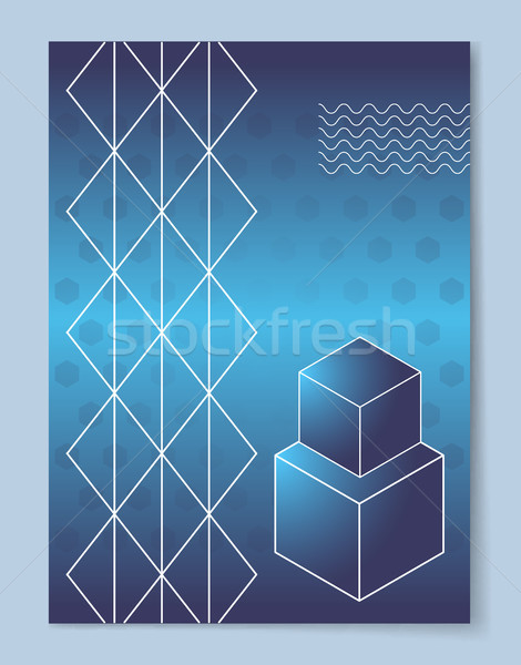 Cubes that Stand One on Another and Thin Lattice Stock photo © robuart