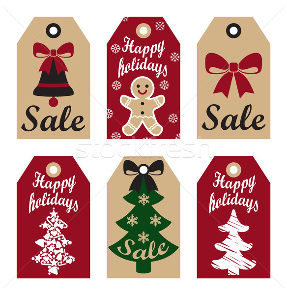 Szczęśliwy wakacje sprzedaży promo christmas Zdjęcia stock © robuart