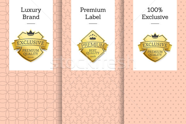 Luxury Brand Premium Label 100 Exclusive Emblem Stock photo © robuart
