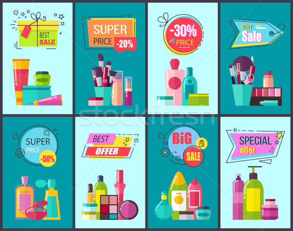 Best Sale and Super Price Set Vector Illustration Stock photo © robuart