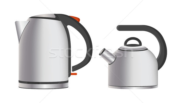 Modern Shiny Metal Teapots Electric and Simple Stock photo © robuart