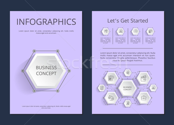 Let s Get Started Infographics Vector Illustration Stock photo © robuart