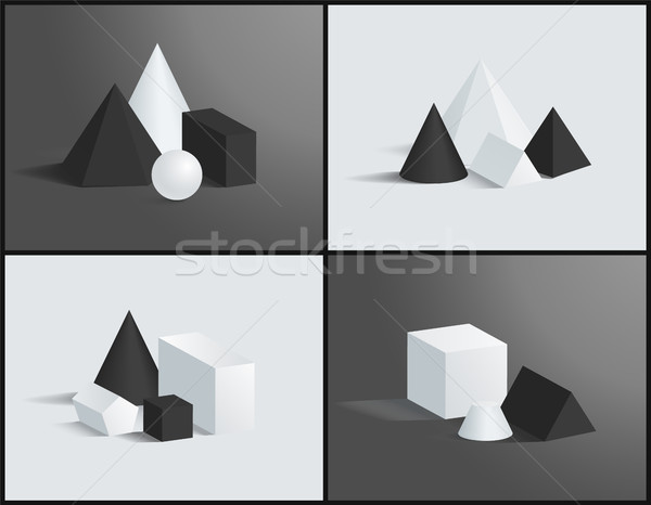 Geometric Composition, Color Vector Illustration Stock photo © robuart