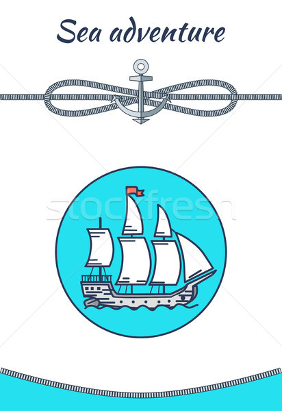 Sea Adventure Banner, Color Vector Illustration Stock photo © robuart