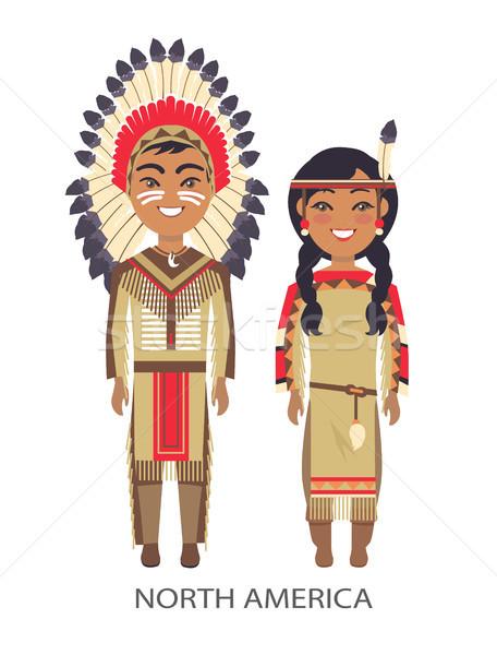 North America Traditional Vector Illustration Stock photo © robuart