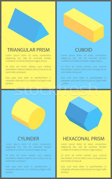 Cilindro descobrir prisma amarelo isolado azul Foto stock © robuart