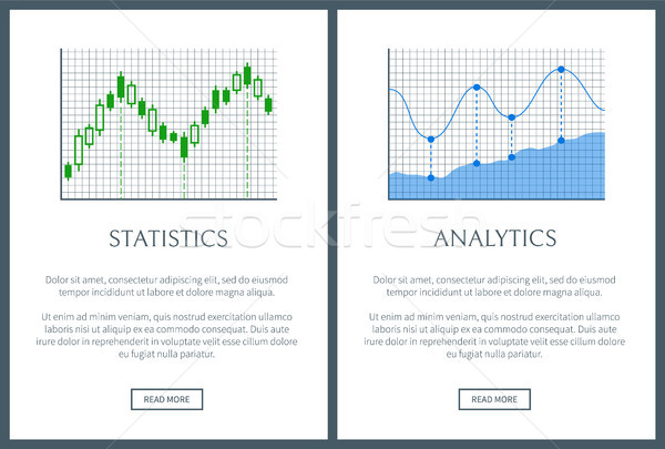 統計 分析 2 明るい 情報をもっと見る ポスター ストックフォト © robuart