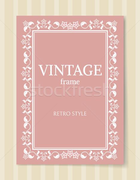 Vintage Frame Retro Style Ornamental Graphic Decor Stock photo © robuart