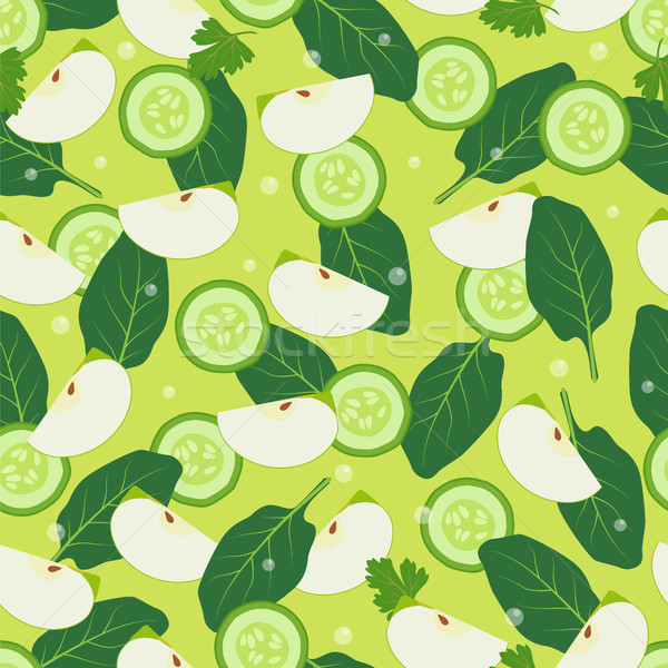 Wallpaper Design Seamless Pattern Pieces of Apple Stock photo © robuart