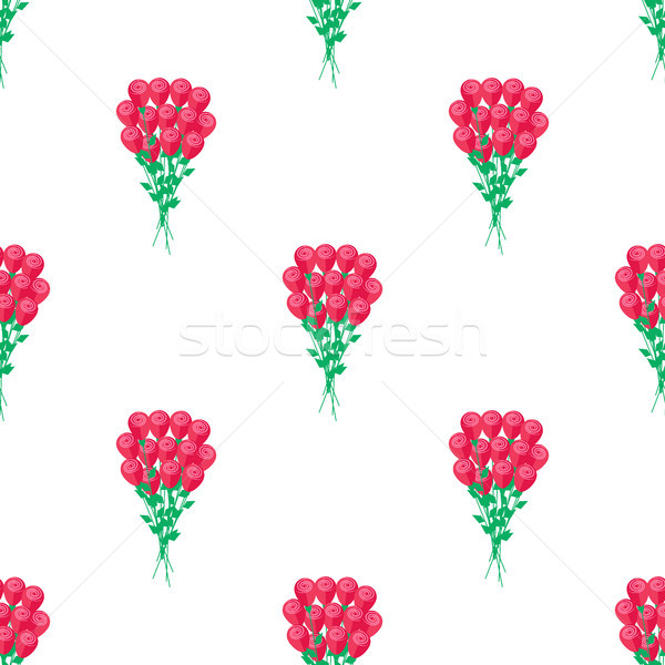 Seamless Pattern with Luxury Bouquet of Roses Stock photo © robuart