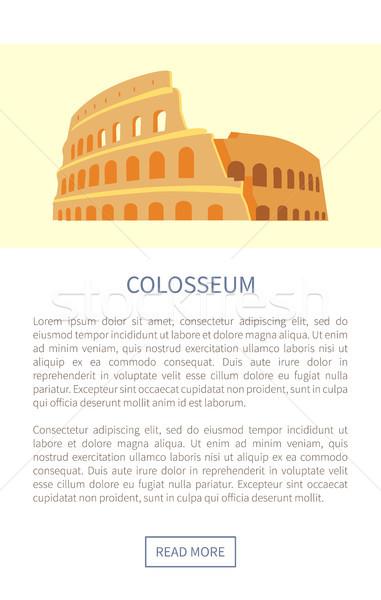 Колизей веб страница ориентир Рим Италия Сток-фото © robuart