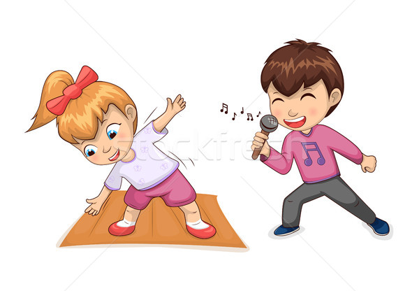 Hobbies of Children Collection Vector Illustration Stock photo © robuart