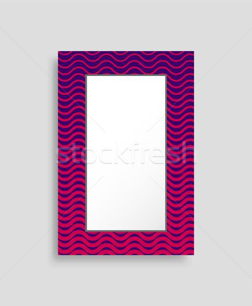 Rettangolare frame colorato isolato luminoso abstract Foto d'archivio © robuart