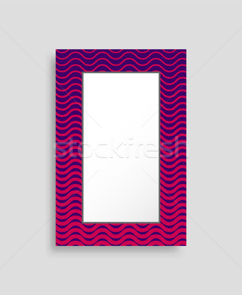 Rechteckige Rahmen farbenreich isoliert hellen abstrakten Stock foto © robuart