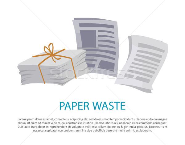 Kâğıt atık örnek renkli eski gazete Stok fotoğraf © robuart